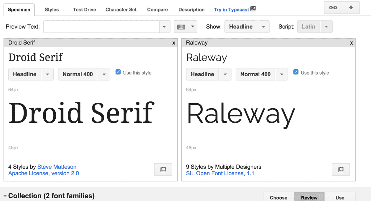 Google Fonts are free and well designed for the screen